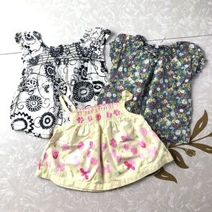 Lot Of 3 Mixed Brand Boho Floral Tops Girl 12 Mon